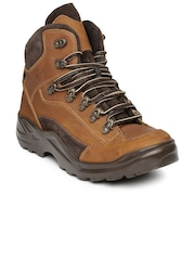 Franco Leone Men Brown Leather Boots