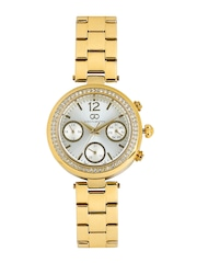 GIO COLLECTION Women Silver-Toned Dial Embellished Watch G2005-22