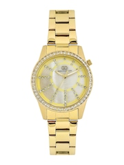 GIO COLLECTION Women Pearly White Dial Embellished Watch G2001-22