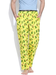 SMUGGLERZ INC. Yellow Dollar Print Lounge Pants