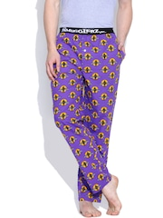 SMUGGLERZ INC. Purple Gangster With Car Print Lounge Pants