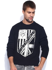 U.S. Polo Assn. Black Printed Sweatshirt