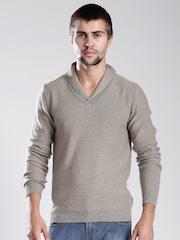 GAS Beige Slim Fit Sweater