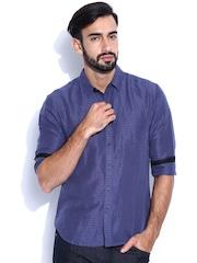 Levis Redloop Blue Linen Striped Casual Shirt