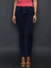 SELA Navy Slim Fit Jeans