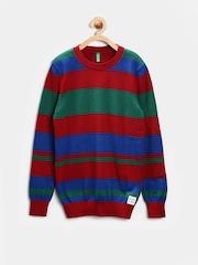 United Colors of Benetton Boys Multicoloured Striped Sweater