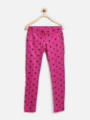 United Colors of Benetton Girls Pink Star Print Jeggings
