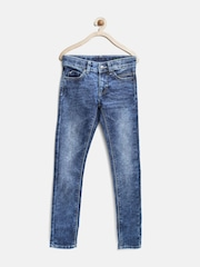 United Colors of Benetton Girls Blue Washed Jeans