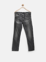 United Colors of Benetton Boys Black Washed Jeans