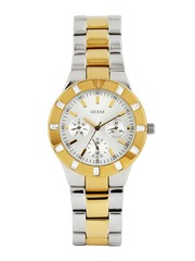 GUESS Women Silver-Toned Dial Watch W14551L2