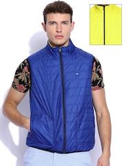 Lee Yellow & Blue Padded Sleeveless Reversible Jacket