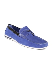 Bata Men Blue Suede Loafers