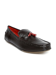 Bata Men Dark Brown Leather Loafers