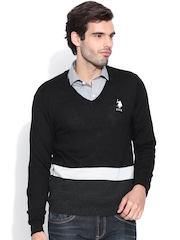 U.S. Polo Assn. Black Merino Wool Sweater