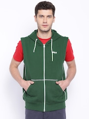 FILA Green BRASILIA Sleeveless Hooded Sweatshirt