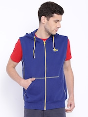 FILA Blue Sleeveless Hooded Brasilia Sweatshirt