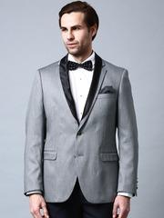INVICTUS Grey Slim Fit Formal Blazer