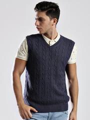 Nautica Blue Sleeveless Sweater