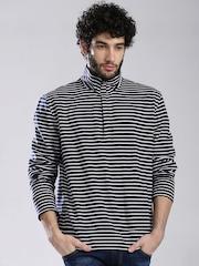Nautica Navy & White Striped Sweatshirt