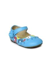 YK Girls Blue Printed Mary Janes