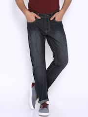 Fox Navy Blue Slim Fit Jeans