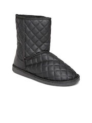 Miss CL by Carlton London Women Black Quilted Boots