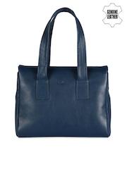 VIARI Blue Leather Handbag
