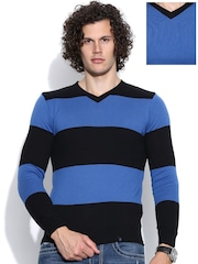 United Colors of Benetton Black & Blue Reversible Sweater