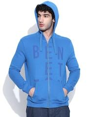 United Colors of Benetton Blue Hooded Sweatshirt