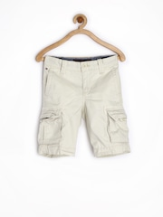Tommy Hilfiger Boys Off-White 3/4th Cargo Shorts