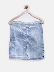 GJ Unltd Jeans by Gini & Jony Girls Blue Denim Skirt