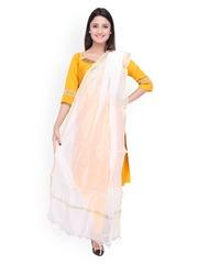 Dupatta Bazaar White Silk Dupatta