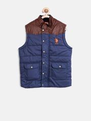 U.S. Polo Assn. Kids Boys Navy Sleeveless Puffer Jacket