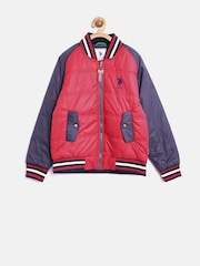 U.S. Polo Assn. Kids Boys Red Bomber Jacket