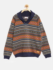 U.S. Polo Assn. Kids Boys Multicoloured Fair Isle Sweater