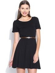 United Colors of Benetton Black Fit & Flare Dress