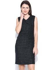 United Colors of Benetton Black & Grey Sheath Dress