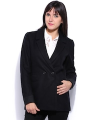 ONLY Dark Navy Double-Breasted Woollen Blazer
