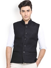 Shaftesbury London Black Nehru Jacket