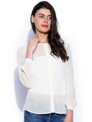 Buy ONLY Off White Shirt - Shirts for Women | Myntra