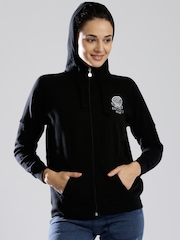 Russell Athletic Black Hooded Sweatshirt