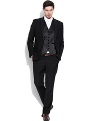 Blackberrys Black Single-Breasted Slim Fit Formal Suit