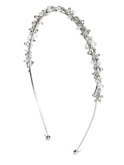 Addons Silver-Plated Embellished Hairband