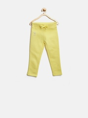 United Colors of Benetton Girls Yellow Track Pants