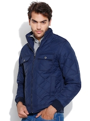 Fort Collins Navy Padded Quilted Jacket