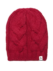 PUMA Women Red Patterned Beanie