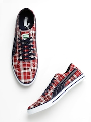 Puma Men Red Checked 917 GP Canvas Shoes