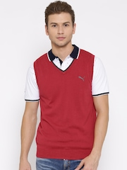 PUMA Red Sleeveless Sweater