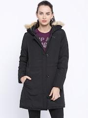 PUMA Black Long Down Jacket