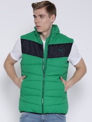 PUMA Green ESS Sleeveless Padded Jacket